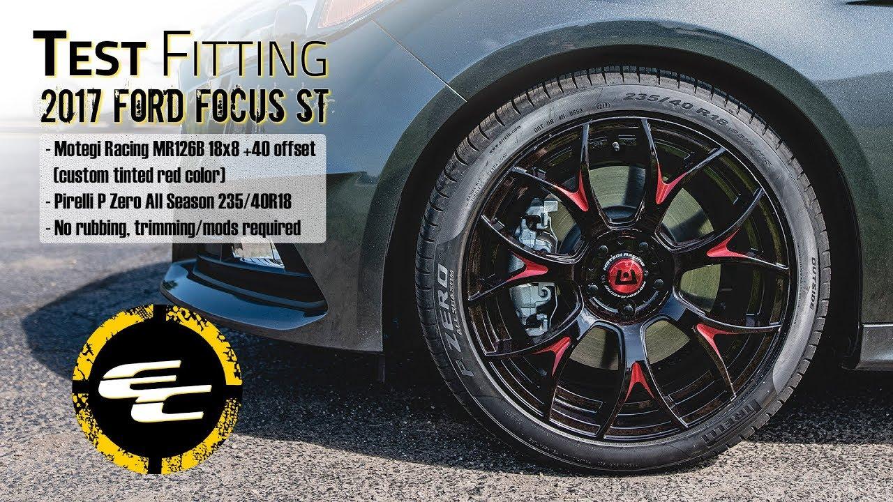 Test Ing 2017 Ford Focus W Custom 18 Motegi Racing Mr126b 25 Pirelli P Zero Tires
