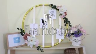 DIY floral photo hoop / foto mural hula