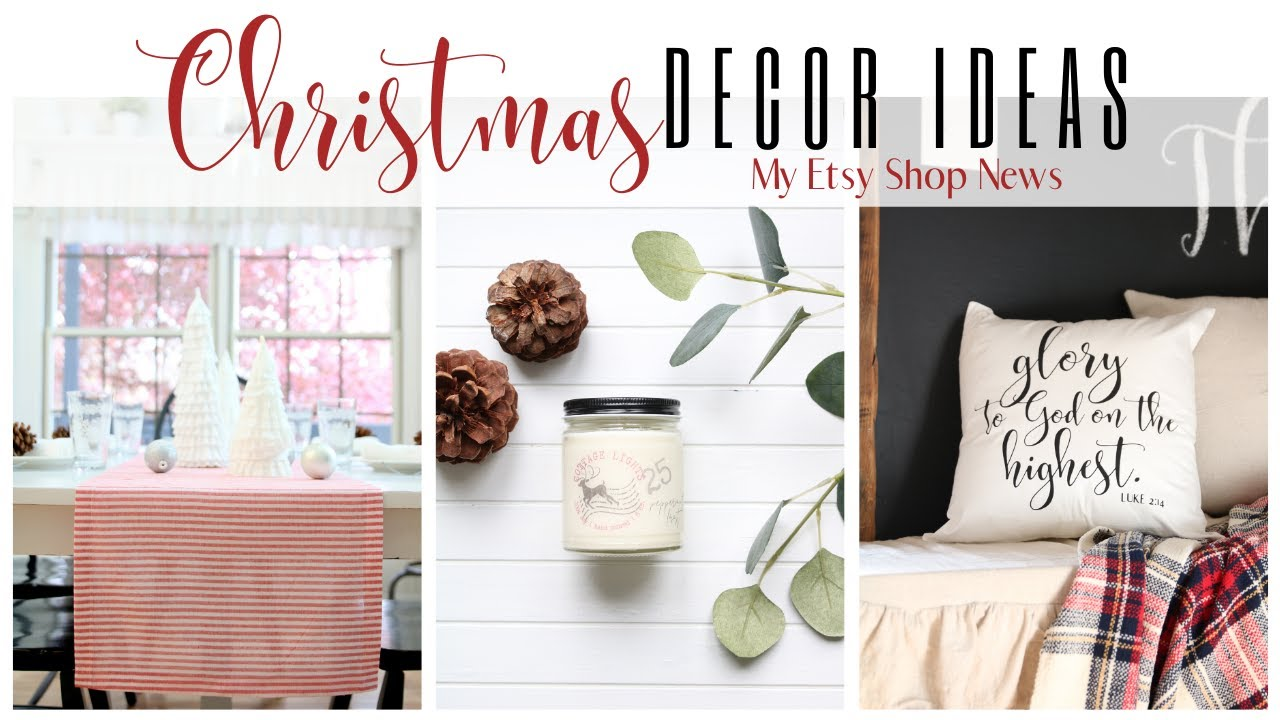 Christmas Decor Ideas ~ Etsy Shop Updates ~ Christmas Etsy Shop ~ Christmas Candles