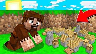 FAKİR EN KÜÇÜK KÖYÜ BULDU! 😱 - Minecraft