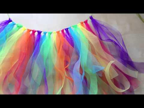 Diy Tutu Arc En Ciel Rainbow Tulle Skirt