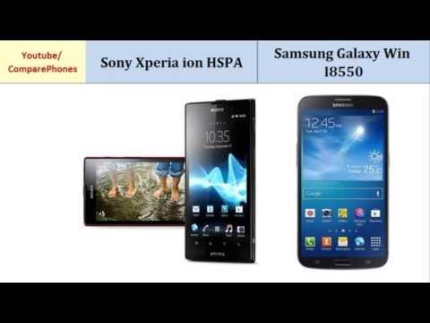 Sony Xperia ion HSPA VS Samsung Galaxy Win I8550, full specs