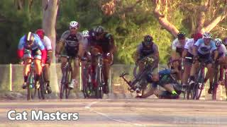 Criterium Bicycle crash at Eldorado Park Long Beach April 24th 2018