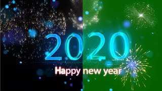 Awesome green screen happy new year 2020 Happy new year 2020