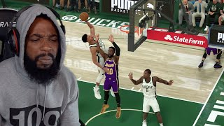 This Game Is Glitched & Scripted! Lakers vs Bucks Playoffs! NBA 2K20 Mycareer Ep 43