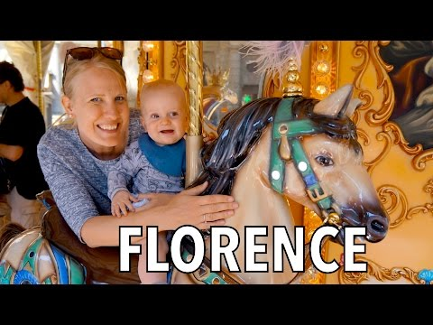 Huge Duomo and Baby's First Carousel in Florence – Tuscany Italy | Family Travel Vlog