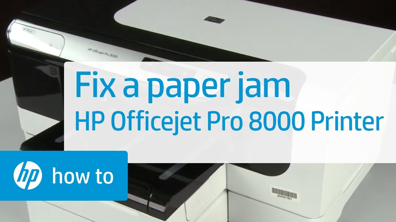 fixing a paper jam hp officejet pro 8000 printer a809a youtube rh youtube com HP Officejet 9000 HP Officejet Pro 8100
