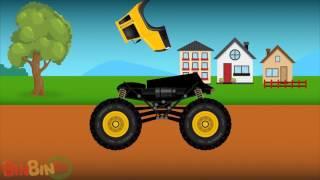 Хорошее против Evil Container Truck Война Страшные строительные автомобили Видео для детей RUSI TV