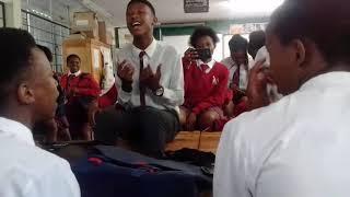Learners singing sthandwa senhliziyo yam
