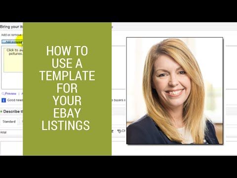 eBay selling tips: How to use a template for your eBay listings