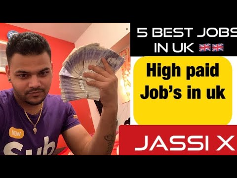 Top 5 best and high paid jobs in uk 🇬🇧| Jassi x 😘🇬🇧