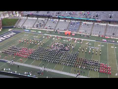 2018 University of Akron Marching Band  High School Band Day 9818