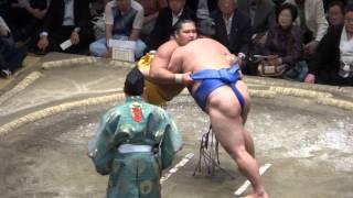 20130927 大相撲秋場所 13日目 松鳳山vs 隠岐の海.