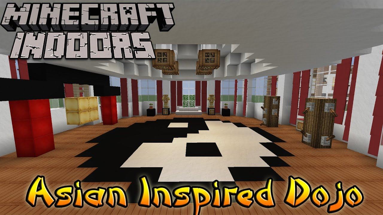 Minecraft indoors interior design asian inspired dojo for Minecraft house interior living room