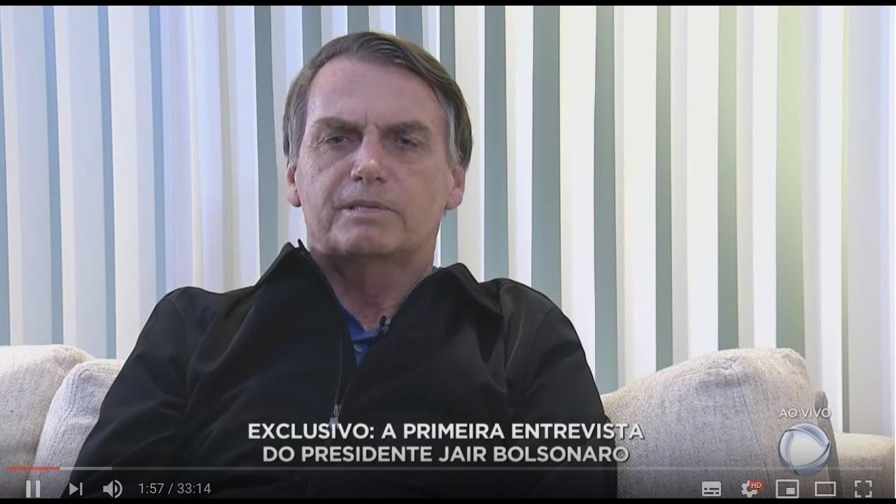 BOLSONARO CONCEDE PRIMEIRA ENTREVISTA A RECORD TV COMO PRESIDENTE DO BRASIL