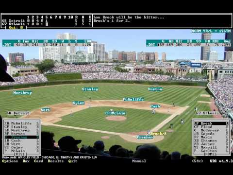 Test Game -- Strategic Baseball Simulator