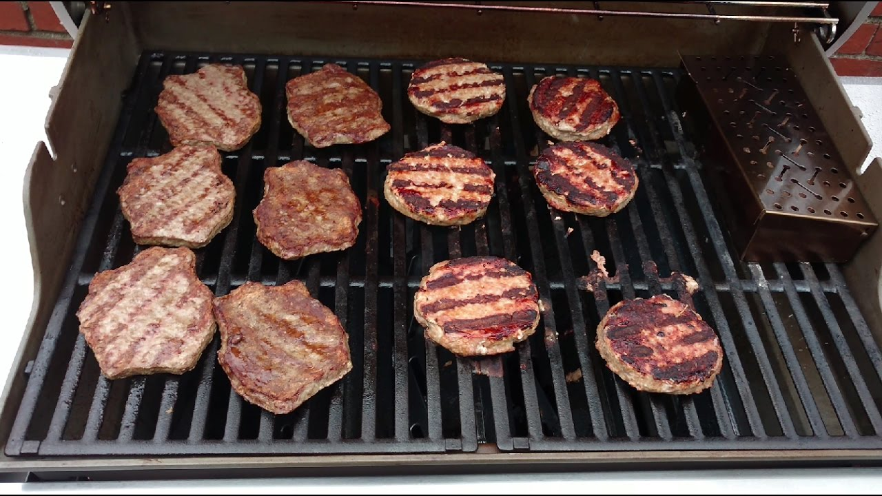 Fatburgers And Turkey Burgers On Weber Genesis Ii Grill From Frozen