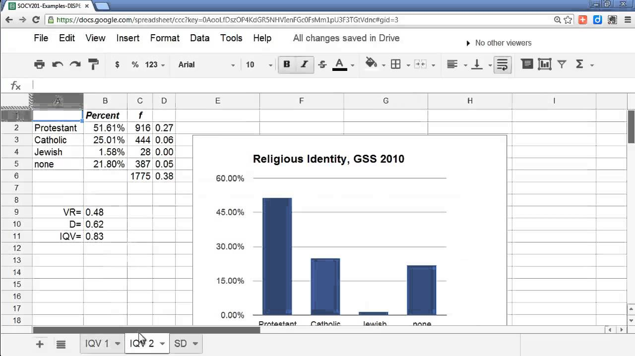 Using A Google Docs Spreadsheet To Calculate The Variance And Standard  Deviation  Youtube