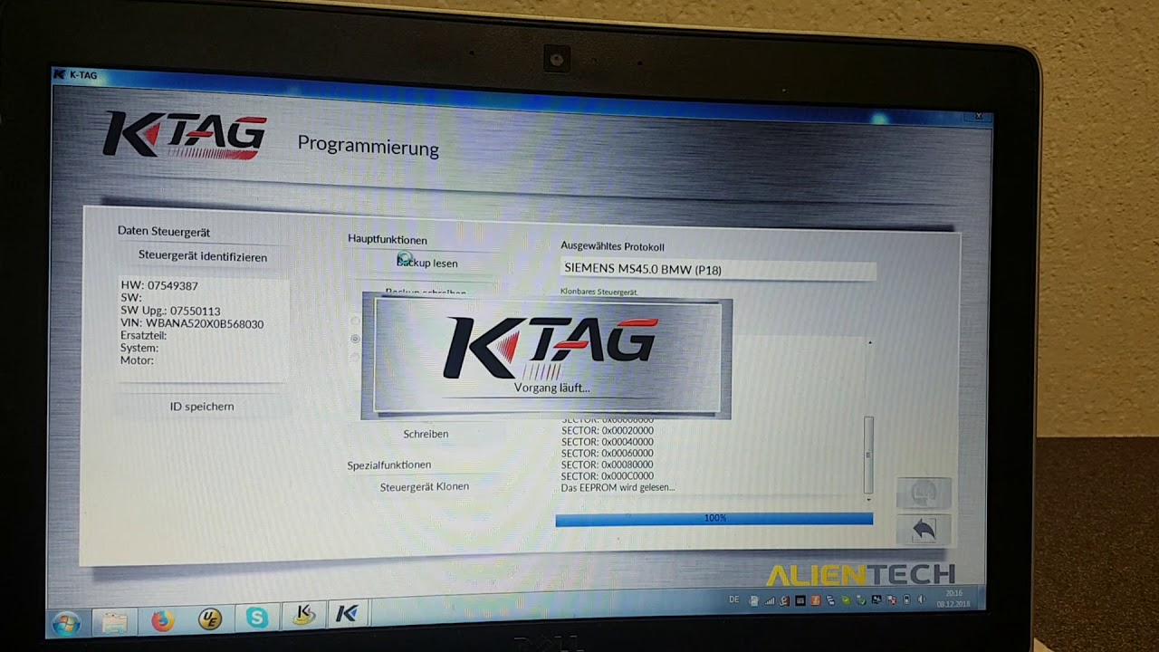 Ktag in bdm mode vs bmw ms45 on Bench for Ecu Clone  No soldering
