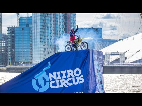 Travis Pastrana's Barge-to-Barge Backflip on the River Thames