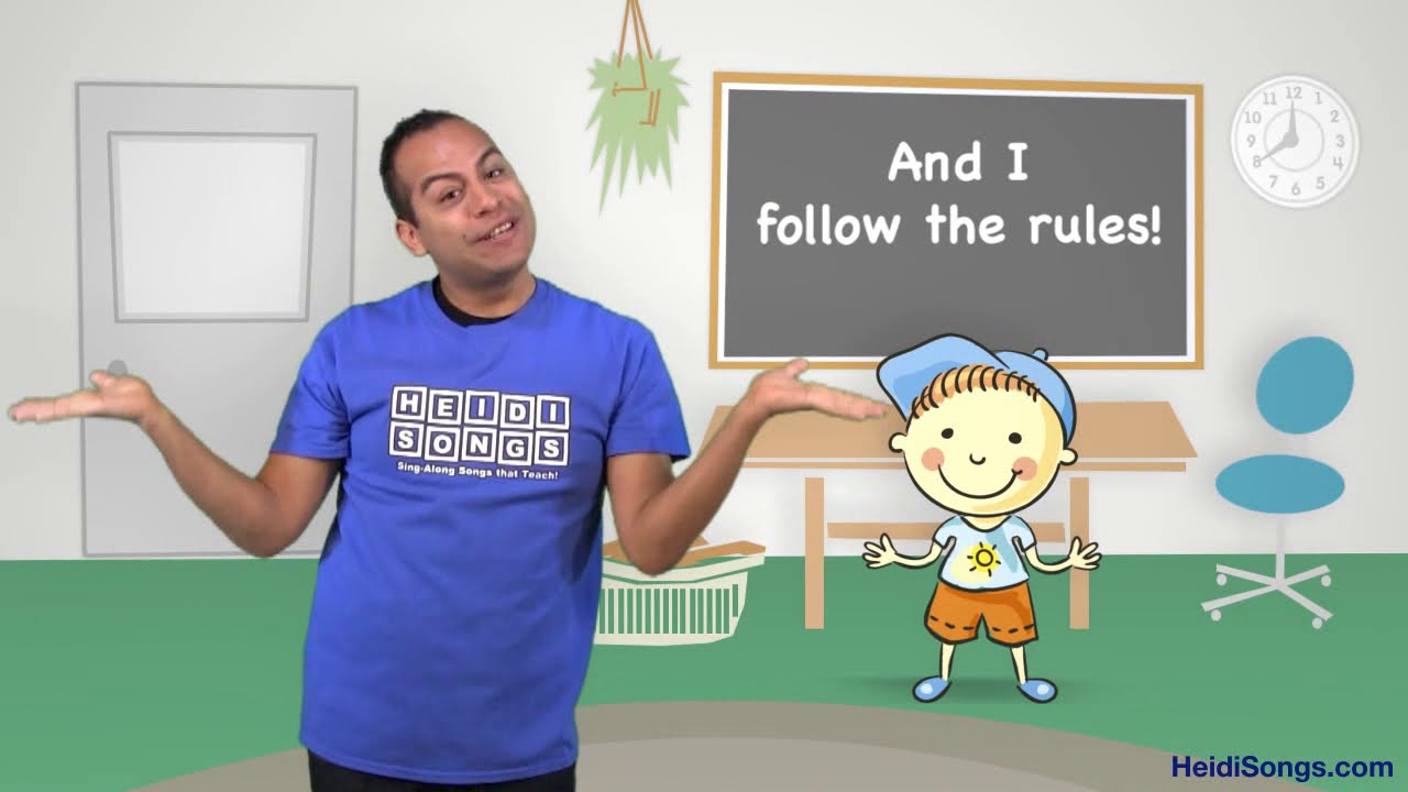I Can Follow The Rules Song Music For Classroom Management Youtube