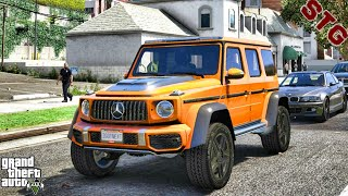 2019 MERCEDES BENZ G63 4X4| TAKING A DAY OFF| (GTA 5 REAL LIFE MODS)