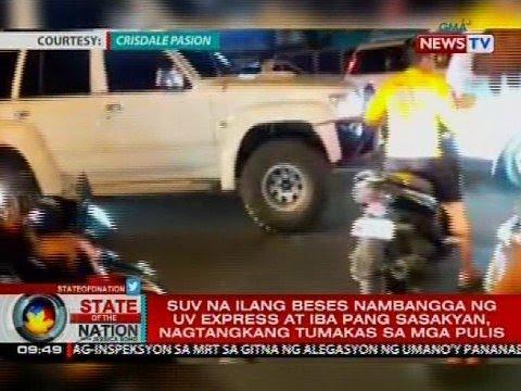 SONA: SUV driver, ilang beses nambangga ng UV express at iba pang sasakyan