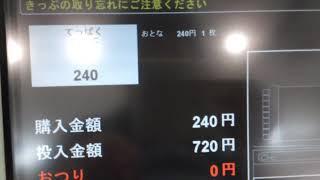 南てっぱく駅のEV4型券売機でてっぱく駅までの乗車券を発券して改札機に通してみた thumbnail