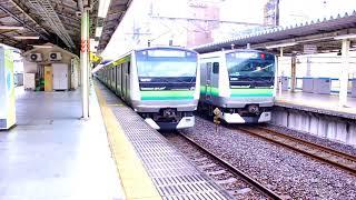 JR東日本   E233系  モハE232形 E232-6017車両 横浜線 快速八王子行 東神奈川駅(3番線発車メロディ)
