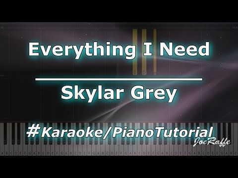 Skylar Grey - Everything I Need (Karaoke/PianoTutorial/Instrumental)