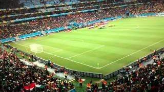 himno nacional mexicano (México vs Croacia) Brasil 2014