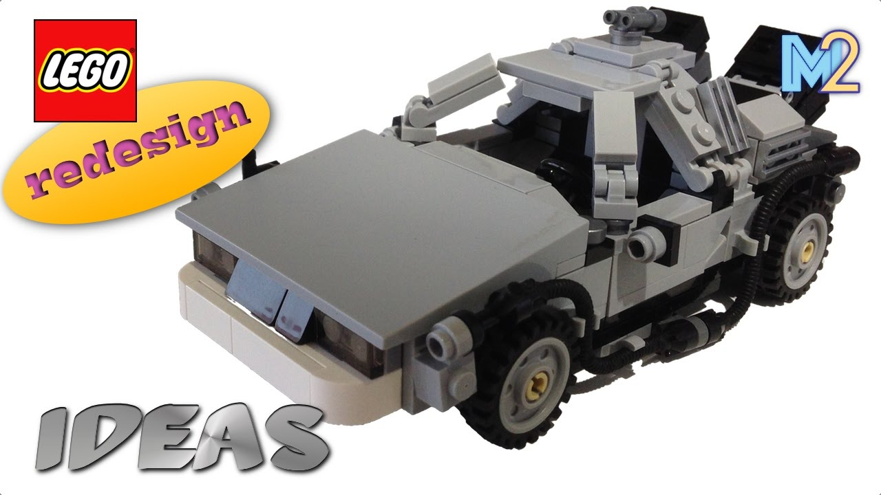 Lego Delorean Time Machine Customization Lego 21103 Youtube