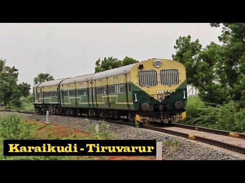 Download Tiruvarur - Karaikudi - Tiruvarur train   New broad gauge line   DEMU Special   Via Pattukkoottai
