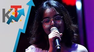 Kate Soliman performs Moonriver for her blind audition in The Voice Teens