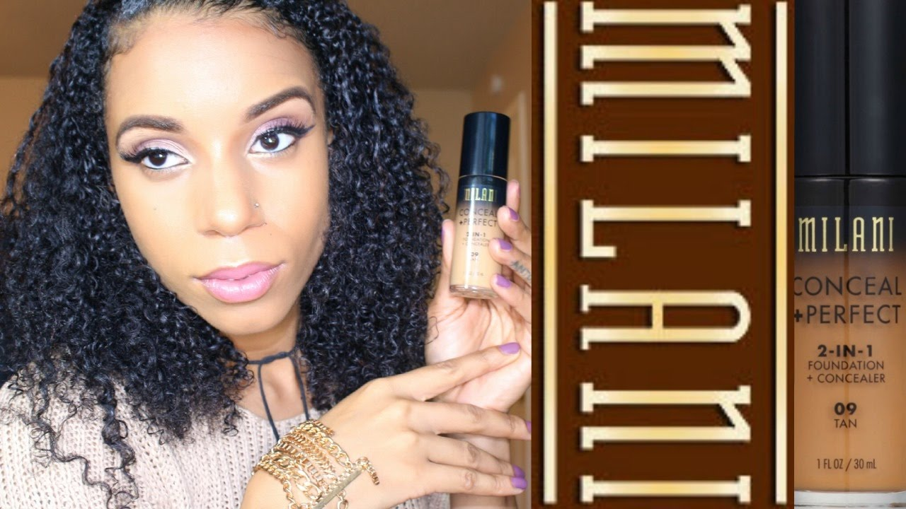 Milani 2 in1 Conceal + Perfect Foundation Demo & Review