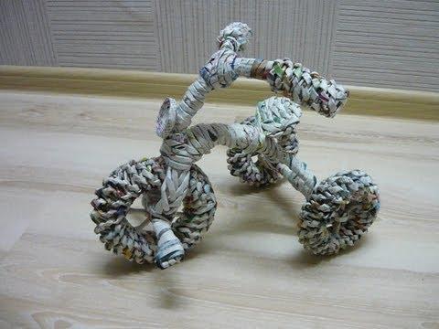 Кашпо-велосипед (1 часть)