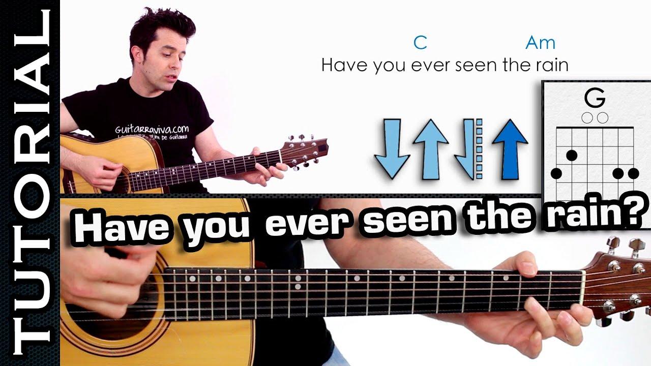 Aprende Have You Ever Seen The Rain? Como tocar en guitarra fácil