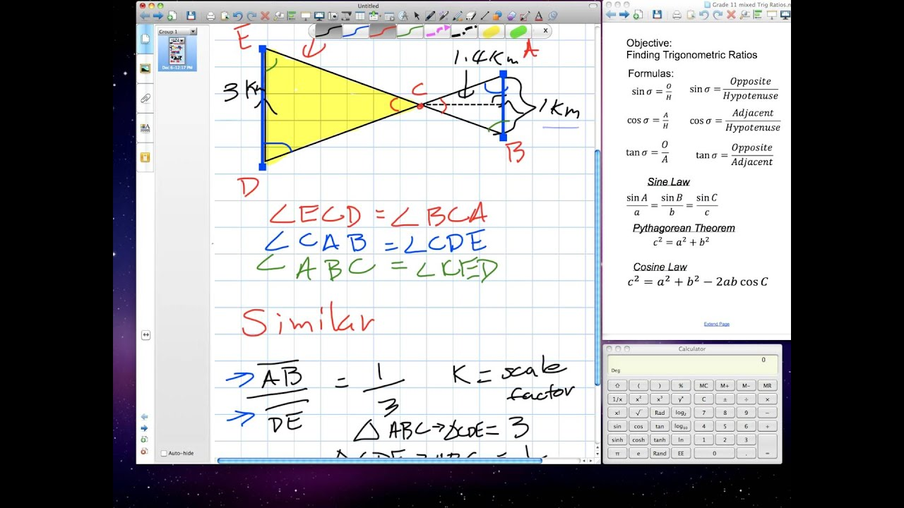 Solving Problems Using Similar Triangles (Grade 10 academic Lesson ...