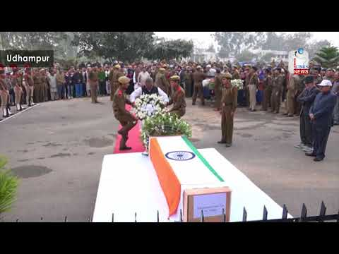 Floral tributes paid to martyred Sub Inspector of J&K Police
