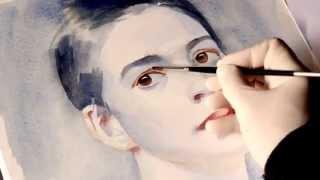Как рисовать лицо - рисуем лицо человека портрет акварелью Артакадемия(В данном видео мы отвечаем на вопросы как рисовать лицо человека, как рисовать глаз, рот и нос человека,..., 2015-03-22T17:21:54.000Z)