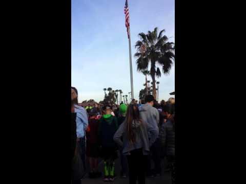Silver Strand Elementary School Flag Pole Ceremony