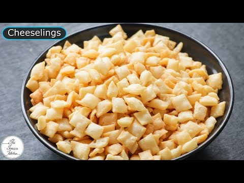 Cheeselings Recipe | How to Make Cheeselings like Parle Monaco at Home ~ The Terrace Kitchen