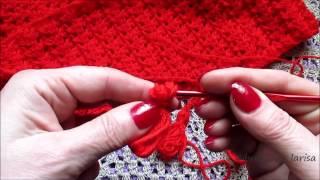 Школа вязания:Как связать красивый шарф. Часть 2