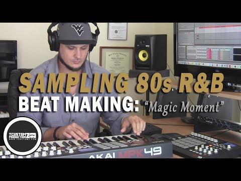 "80s Soul Sampling Hip-Hop Beat Making Video ""Magic Moment"" (prod. by   TCustomz)"