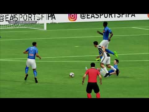 FIFA 18 PS3 - Juventus Vs Napoli Full Match Gameplay HD