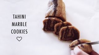 Tahini Marble Cookies