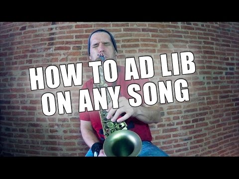 HOW TO AD LIB ON ANY SONG