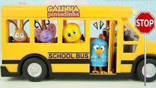 GALINHA PINTADINHA PINTINHO AMARELINHO Ônibus Escolar da Playmobil com Carregamento de Ovos Surpres