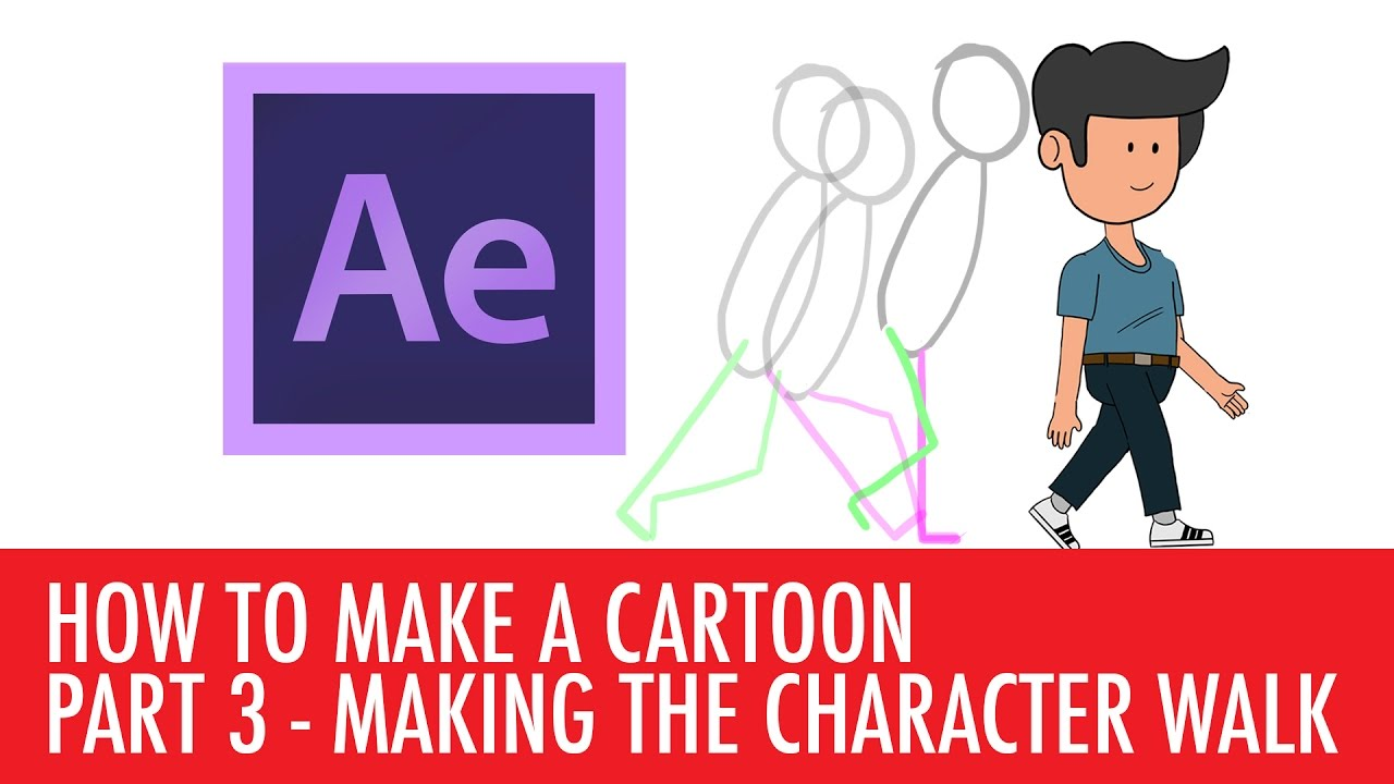How to animate a walk cycle in After Effects - Making a cartoon Part 3