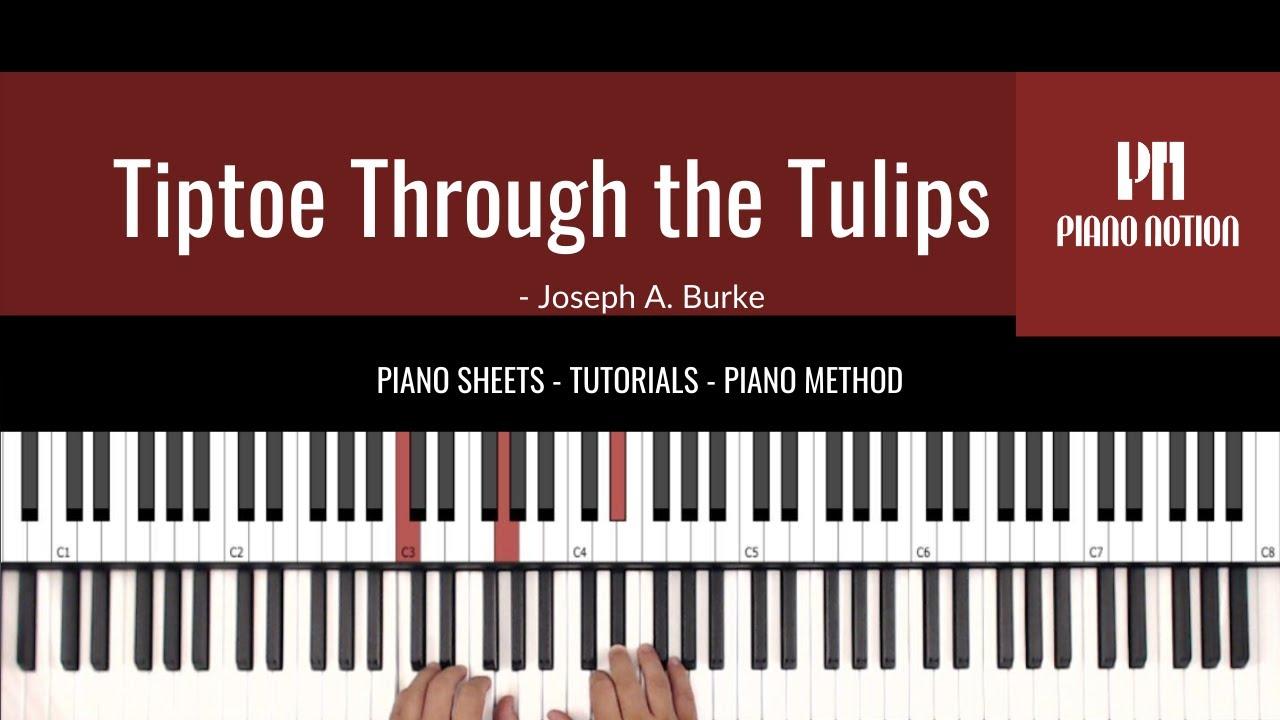Tiptoe Through the Tulips   Tiny Tim Easy Sheet Music   Piano Solo  Tutorial   Piano Method Book 15